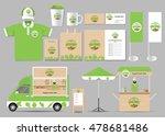 organic food  brading mock up... | Shutterstock .eps vector #478681486