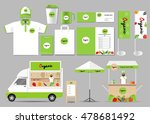 organic food  brading mock up... | Shutterstock .eps vector #478681492