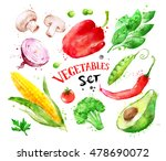 hand drawn watercolor colorful... | Shutterstock . vector #478690072