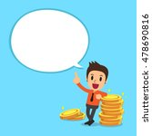 businessman and money coins... | Shutterstock .eps vector #478690816