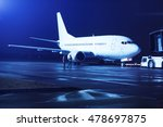 airplane docked at the terminal ... | Shutterstock . vector #478697875