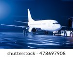 airplane docked at the terminal ... | Shutterstock . vector #478697908