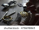 mechanical watch repair | Shutterstock . vector #478698865