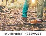 happy couple man and woman feet ... | Shutterstock . vector #478699216