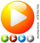 glossy orb play buttons  play... | Shutterstock .eps vector #478701766