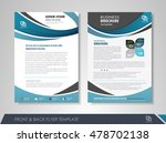 front and back page annual... | Shutterstock .eps vector #478702138