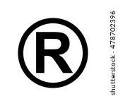 registered trademark icon | Shutterstock .eps vector #478702396