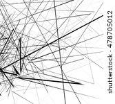 monochrome random chaotic edgy...   Shutterstock .eps vector #478705012