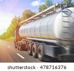 big gas tank truck goes on... | Shutterstock . vector #478716376