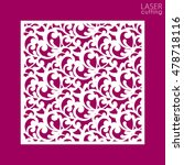 die cut ornamental panel with... | Shutterstock .eps vector #478718116