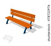 park bench. isolated on white...   Shutterstock .eps vector #478722976