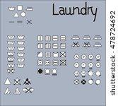 laundry symbols line design.... | Shutterstock .eps vector #478724692