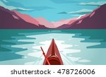 sea kayaking at norway fjord.... | Shutterstock .eps vector #478726006