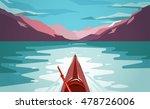 Sea Kayaking At Norway Fjord....
