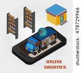 logistics  online vector... | Shutterstock .eps vector #478729966