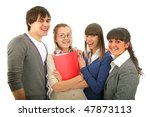 group of with a book. isolated... | Shutterstock . vector #47873113