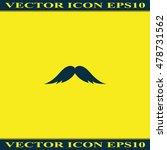 mustache icon. flat...