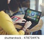 study education e learning... | Shutterstock . vector #478734976