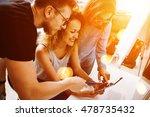 coworkers making great startup... | Shutterstock . vector #478735432