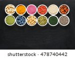 superfoods collection on... | Shutterstock . vector #478740442