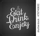food and drink vintage chalk... | Shutterstock .eps vector #478740832