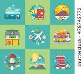 vector travel banners set.... | Shutterstock .eps vector #478743772