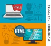 computer laptop developer web... | Shutterstock .eps vector #478744468