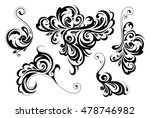 floral style design elements | Shutterstock .eps vector #478746982