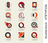 logo letter q. element and... | Shutterstock .eps vector #478749106