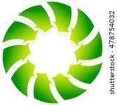 rotating green arrows point... | Shutterstock .eps vector #478754032