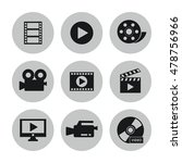 video movie and media icon set | Shutterstock .eps vector #478756966