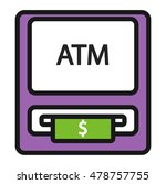 finance atm and business vector ... | Shutterstock .eps vector #478757755