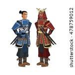 samurai man cartoon design   Shutterstock .eps vector #478759012