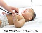 doctor exams asian newborn baby ... | Shutterstock . vector #478761076