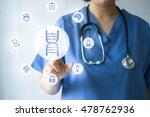 medicine doctor   nurse working ... | Shutterstock . vector #478762936