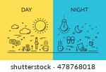 set of modern vector... | Shutterstock .eps vector #478768018