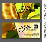 gift voucher. vector ... | Shutterstock .eps vector #478771792