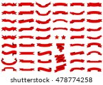 ribbon red vector icon on white ... | Shutterstock .eps vector #478774258