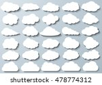 cloud vector icon set white... | Shutterstock .eps vector #478774312