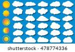 cloud vector icon set white... | Shutterstock .eps vector #478774336