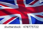 great britain flag waving... | Shutterstock . vector #478775722