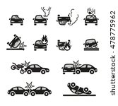 car crash and accidents icons... | Shutterstock .eps vector #478775962