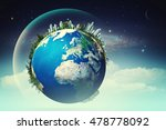 planet in the skies  eco... | Shutterstock . vector #478778092