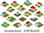 isometric icon rural... | Shutterstock .eps vector #478781635