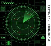 digital green radar screen with ...   Shutterstock .eps vector #478781866