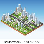 megapolis 3d isometric three... | Shutterstock .eps vector #478782772