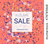 elegant autumn fall sale design.... | Shutterstock .eps vector #478785868