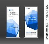 roll up banner design layout.... | Shutterstock .eps vector #478787122