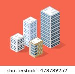 neighborhood 3d isometric three ... | Shutterstock .eps vector #478789252
