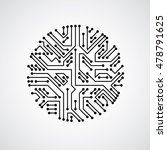 futuristic cybernetic scheme ... | Shutterstock .eps vector #478791625
